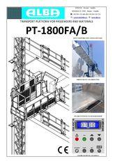 новый люлька строительная PT ALBA 1800FA/B